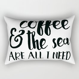 mermaid motto Rectangular Pillow