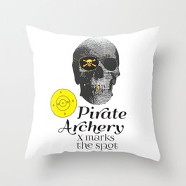 Pirate Archery - X Marks the Spot Throw Pillow