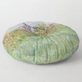 """Claude Monet """"Printemps à Giverny, effet d'après-midi"""" Floor Pillow"""