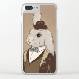 Fake Lop 1 Clear iPhone Case