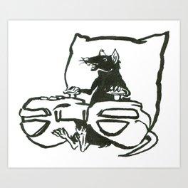 Gamer Rat Art Print
