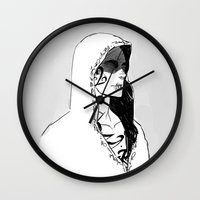 silent hill Wall Clocks featuring Silent by Cassandra Jean