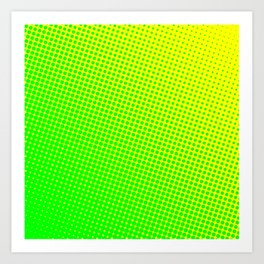 80's grade green Art Print