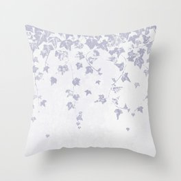 Soft Purple Trailing Ivy Leaf Print Throw Pillow
