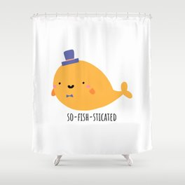 so-FISH-sticated Shower Curtain