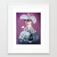 guinea pig Framed Art Prints featuring Guinea Pig Marie Antoinette by When Guinea Pigs Fly