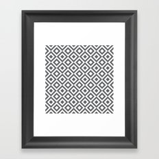 Geometric Pattern #170 (gray squares) Framed Art Print