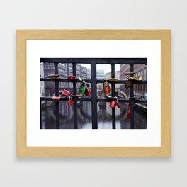 Lovers' padlocks Framed Art Print