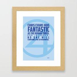 Nerdism 1 - Chris Evans Framed Art Print