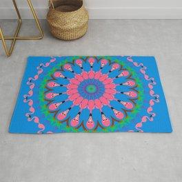 Fabulous Flamingo Mandala Design Rug