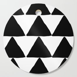 Mountains - Black and White Triangles Cutting Board
