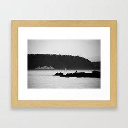 Ferry at the San Juan Islands Framed Art Print