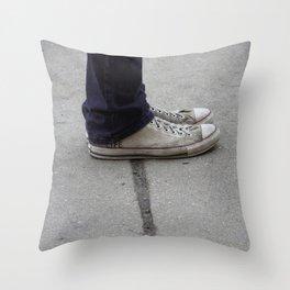 Life's Sidewalk Throw Pillow