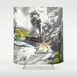 Rounding Inspiration Point--Clear Creek Canyon Shower Curtain
