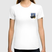 delorean T-shirts featuring Delorean - Retro Poster; Blue by Geoff Ombao Car Art
