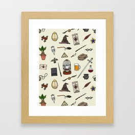 Harry Pattern Framed Art Print