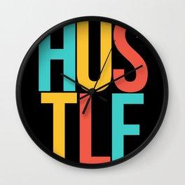 Hustle Vintage Wall Clock