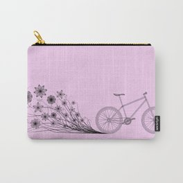Cycling with flowers Carry-All Pouch