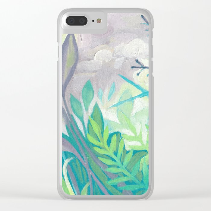 Enchanted Forest Floor III Clear iPhone Case