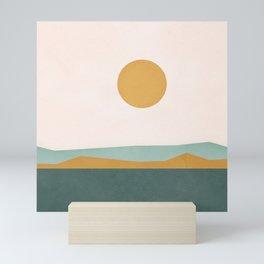 Minimal Line Scape III Mini Art Print