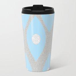 Eye Pattern Blue Travel Mug