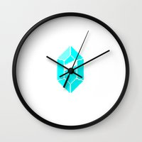 gem Wall Clocks featuring Gem by MapOfCampus
