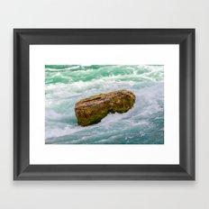 Solid as a rock Framed Art Print
