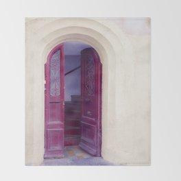 Red Door Throw Blanket