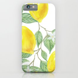 Lemons and Flowers iPhone Case