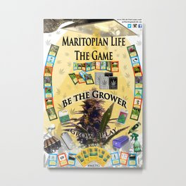 MLTG Maritopian Life The Game Poster Metal Print