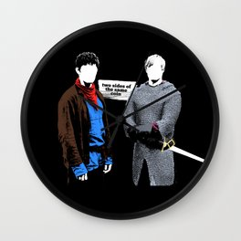 Two Sides of the Same Coin Wall Clock