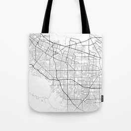 Minimal City Maps - Map Of Sunnyvale, California, United States Tote Bag