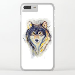 Wolf Head Clear iPhone Case