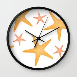 Starfish Pattern Wall Clock