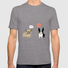 Dog Fart LARGE Tri-Grey Mens Fitted Tee