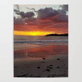 Carmel-by-the-Sea Sunset Poster