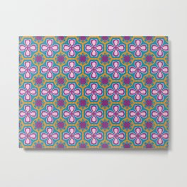 Lotus tile Metal Print