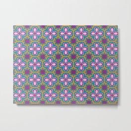 Lotus tile Metal Print