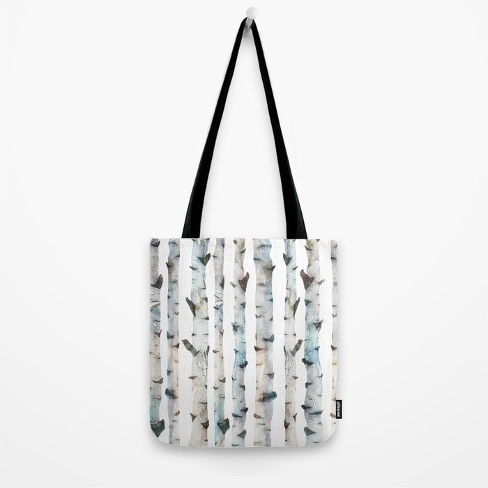 Birch Tree forest Tote Bag