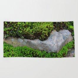 Vibrant Moss Beach Towel