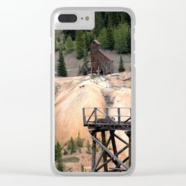 1880's Gold Rush - Mine Headstaff on Red Mountain from the Idarado Ore Cart Track Clear iPhone Case