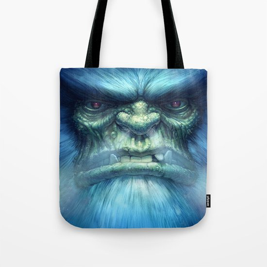 Abominable Snowman Tote Bag