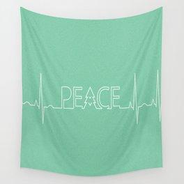 Peace Pulse Minimalist Christmas Wall Tapestry