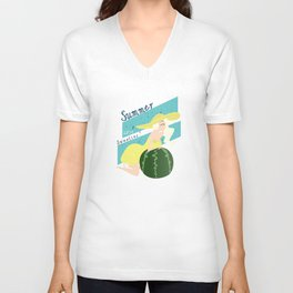 Summer Sweeties: Watermelons  Unisex V-Neck