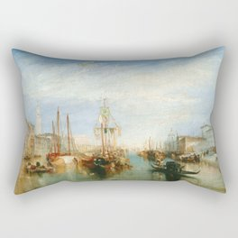 """J. M. W. Turner """"Venice, from the Porch of Madonna della Salute (The Grand Canal - Venice)"""" Rectangular Pillow"""