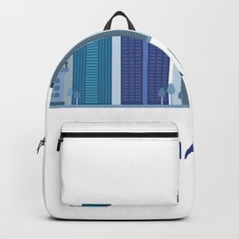 miami skyline Backpack