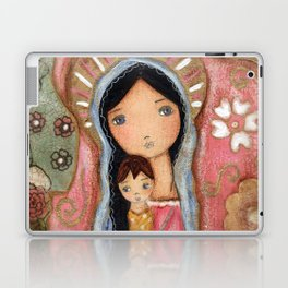 Madonna of the Flowers by Flor Larios Laptop & iPad Skin