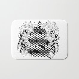 More bees with honey Bath Mat