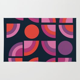 Outta Sight - 70s retro throwback trendy vintage style geometric 1970's Rug