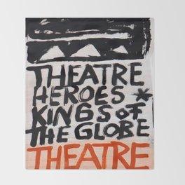 Theatre Heroes Throw Blanket